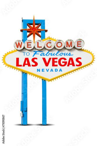Spoed canvasdoek 2cm dik Las Vegas Welcome to Las Vegas Sign