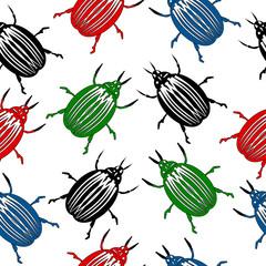Bug seamless pattern