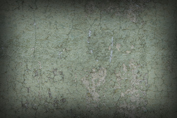 Grayish Green Weathered and Distressed Textured Background Wall