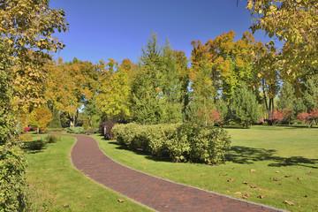 Осень в ландшафтном парке