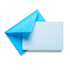 Blue envelope with card