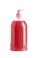 Isolated hand sanitizer soap dispenser on white background
