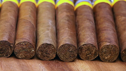 The Cuban cigars, hand madeStock video: