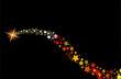 blazing comet shooting star vector illustration