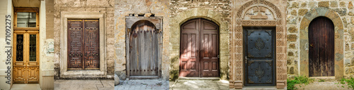 Canvas Historisch geb. Historical Old Gates