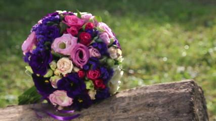 Wedding bridal bouquet.Wedding floristry.