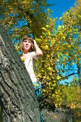 girl on a poplar