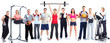 Group of fitness people - 71092862