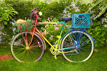 Multi Colored bicycle