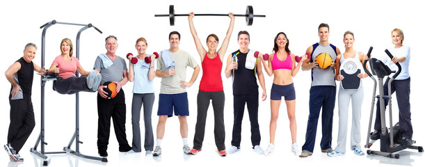 Group of fitness people