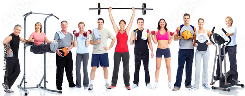 Group of fitness people © Kurhan