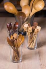 wooden kitchen ware utensil stencil