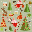 Xmas retro wallpaper