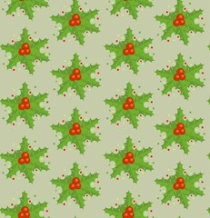 Xmas wallpaper with holly