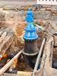 Bauarbeiten an einer grossen Frischwasserleitung