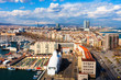 view of La Barceloneta. Barcelona