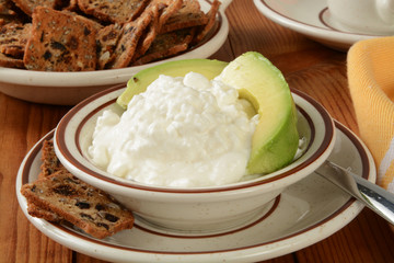 Cottage cheese and avocado