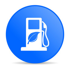 biofuel internet blue icon