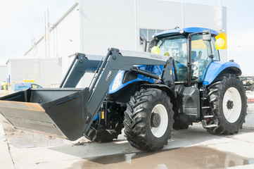 Plow tractor. Tyumen. Russia