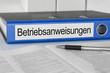 Leinwanddruck Bild - Aktenordner mit der Beschriftung Betriebsanweisungen