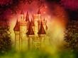 Obrazy na płótnie, fototapety, zdjęcia, fotoobrazy drukowane : fantasy magical castle