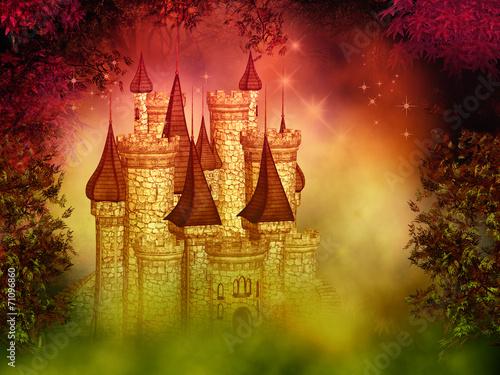 Zdjęcia na płótnie, fototapety, obrazy : fantasy magical castle