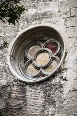 old gothic window, Spanish city of Valencia, Mediterranean archi