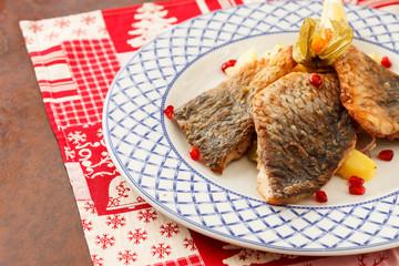 carp for traditional polish christmas eve