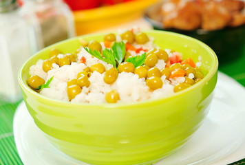 Bowl with risotto