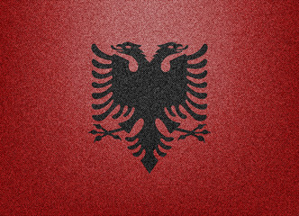 Albania denim flag
