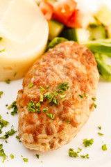 cutlet with mashed potatoes