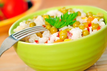 Risotto and vegetable