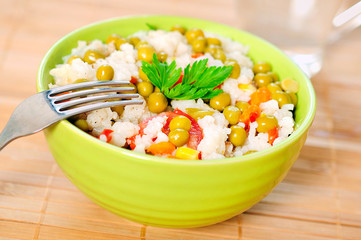 Risotto with vegetable