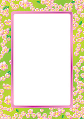 Floral frame, sample for your text