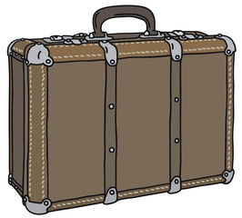 Old big suitcase
