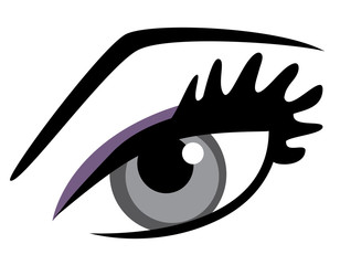 Eye With Long Lashes
