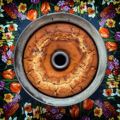 Fresh baked cake