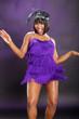 The roaring 20's African American in purple