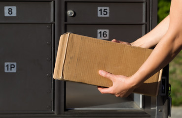 Loading package into Mailbox