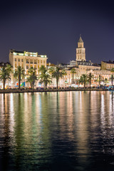 Split, Croatia, at night