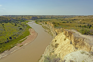 Meandering Stream in the Badlands