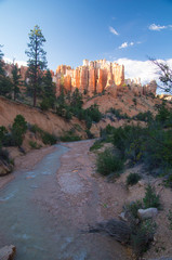 Flooded riverbed in Bryce Canyon