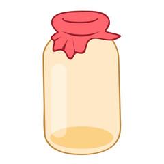 Empty glass jar isolated illustration