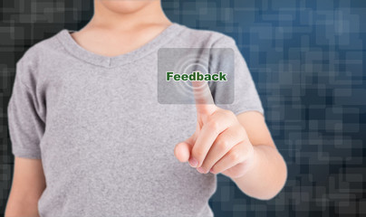 pressing feedback button on virtual screens