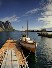 Norwegia ,  Sakrisoy, krajobraz morski