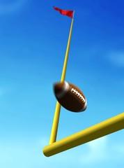 Football Ball Over Goal Post