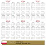 Calendar 2015-2020 - 71106660