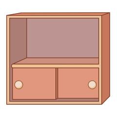 cabinet isolated illustration