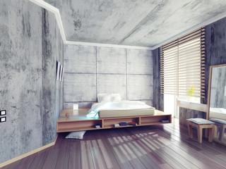 modern  bedroom. 3D