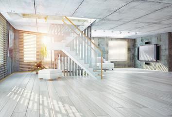loft  interior, 3D
